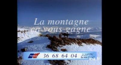 La montagne ca vous gagne publicité 90 ina archive vieille pub france PAM Barry White
