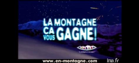 La montagne ca vous gagne publicité 99 ina archive vieille pub france PAM professionnels associés de la montagne en-montagne