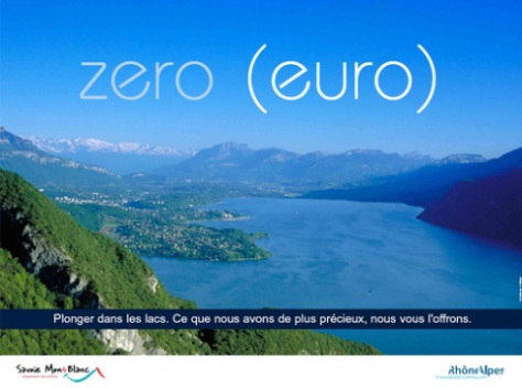 Zero euro Rhone Alpes Campagne Promotion Crise tourisme