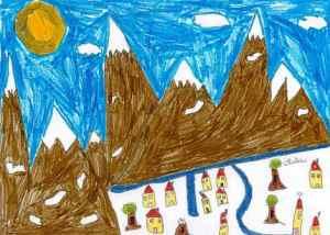 interet jeune tourisme calsse neige montagne promotion dessin enfant