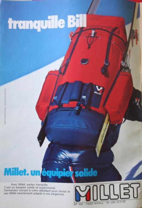 Millet tranquille Bill Alpinisme Randonnée Mars 1979