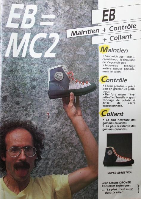 Pub EB Chausson d'escalade La montagne et Alpinisme 1986