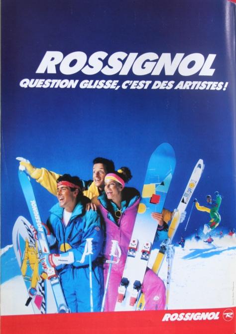 Publicité Rossignol Fluo Fun la Montagne et Alpinisme 1986