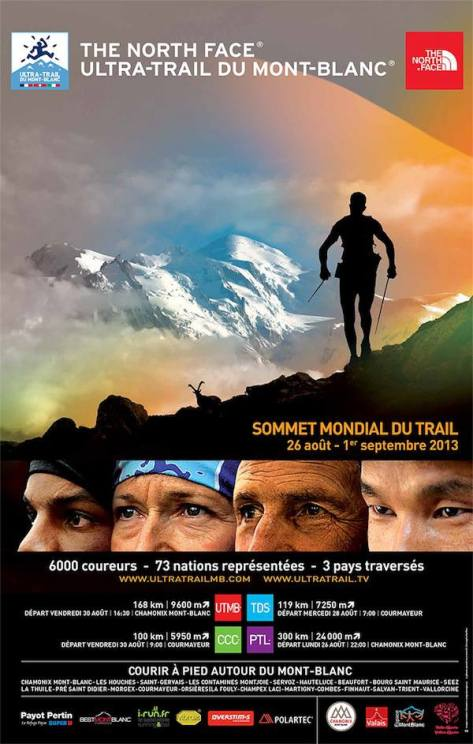 Affiche North face trail UTMB  2013 chamonix visage
