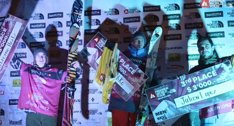 Julien LOPEZ pro freeskier champion 2nd Freeride World tour 2013 Kirkwood US etape results