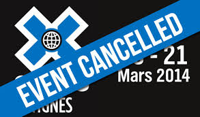 X games 2014 cancelled Tignes