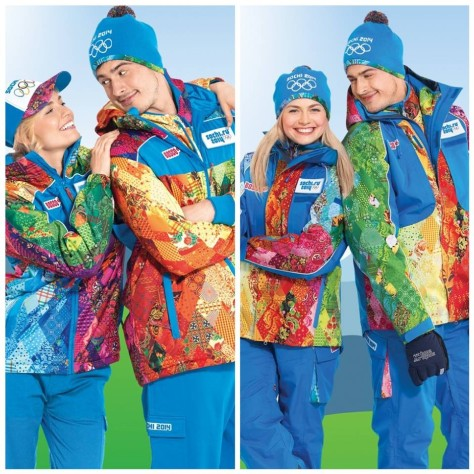 Sochi Olympics 2014 uniforms volonteer comitee  jacket uniform colours flashy fashion trend Volunteer Uniforms