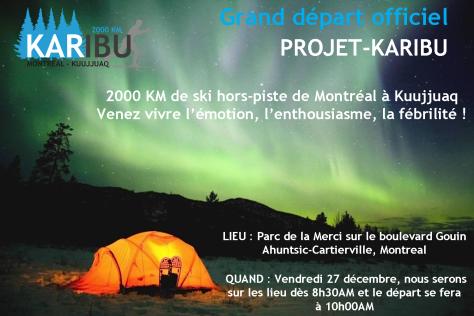 Projet Caribou Project Karibu AGPTA Aventure Ski fond nordique autonomie Montréal kuujuaq