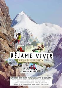 Dejame Vivir Kilian Jornet Seb Montaz film summits of my life trail running alpinisme Salomon Poster Film Cover Affiche