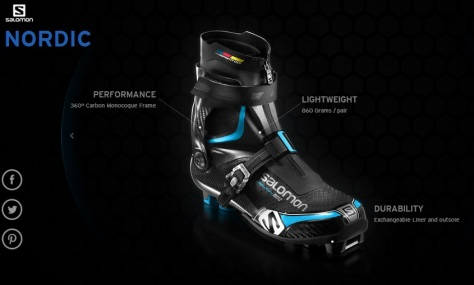 Salomon Nordic Shoes Boots Chaussures Bottes Carbon Revolution carbone Salomon 2014-2015