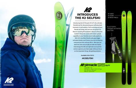 K2 Selfie Skis april fool