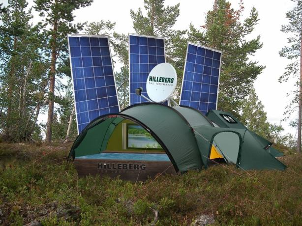 Hilleberg satellite andsola panel tent