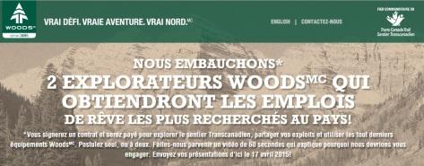 Offre-explorateur-woods-best-job-canada-tourism-trail-park-clim-transacanadien-WOODS-Outdoor-brand