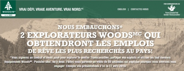 Offre-explorateur-woods-best-job-canada-tourism-trail-park-clim-transacanadien-WOODS-Outdoor-brand