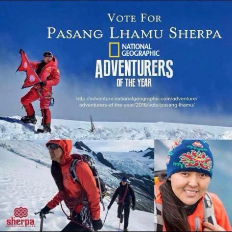 National-Geographic-adventurer-of-year-Pasang Lhamu Sherpa Akita- natgeo